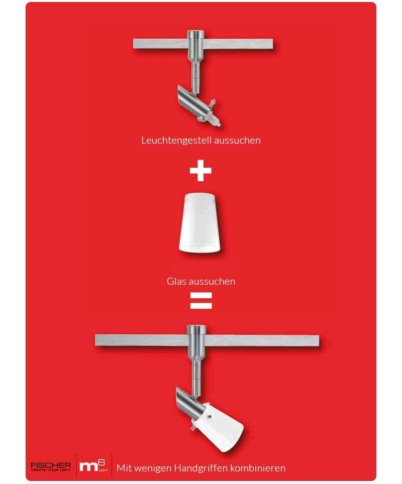 fischer m6 glas lampenschirm no 12610 glas opal eur 11. Black Bedroom Furniture Sets. Home Design Ideas