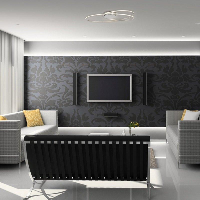n ve leuchten no 1269150 n led deckenleuchte casa blanca stahl blank 60 cm eur 145 00. Black Bedroom Furniture Sets. Home Design Ideas