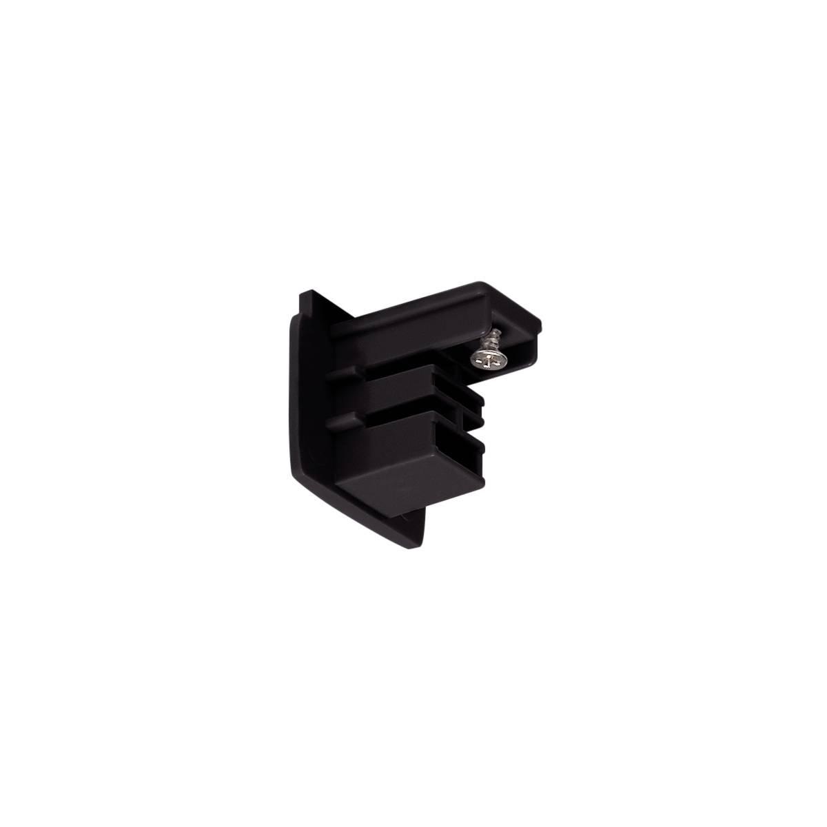 Endkappen für S-Track 3-Phasen Aufbauschiene in schwarz