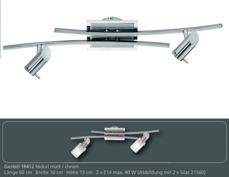 fischer m6 spot 17 no 18412 deckenleuchte 2 flammig. Black Bedroom Furniture Sets. Home Design Ideas