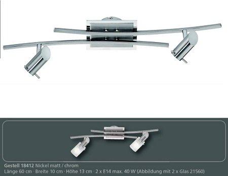 fischer m6 spot 17 no 18412 deckenleuchte 2 flammig nickel matt eur 43 40 leuchten lampen. Black Bedroom Furniture Sets. Home Design Ideas