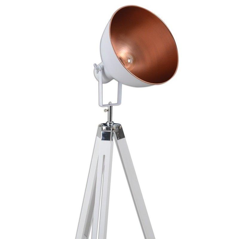 Näve Leuchten No. 2058623-N Stehleuchte Vintage Dreibein Holz Weiß ...
