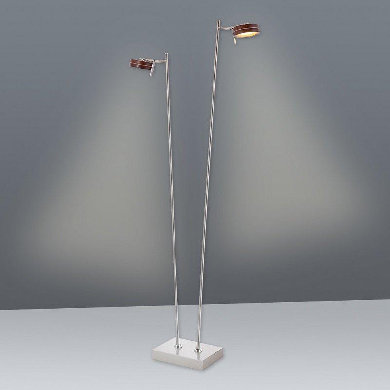 n ve leuchten no 2065114 n led stehleuchteleuchte metall blank holz 140 cm eur 284 96. Black Bedroom Furniture Sets. Home Design Ideas