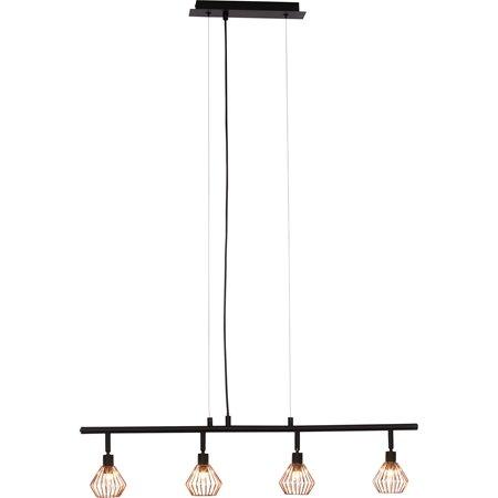 brilliant leuchten no 21074 76 pendelleuchte dalma 4 flammig schwarz kupfer eur 72 58. Black Bedroom Furniture Sets. Home Design Ideas