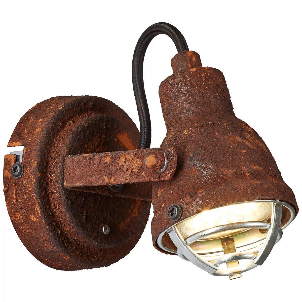 brilliant leuchten no 26310 60 wandleuchte bente rost schwarz eur 29 35 leuchten lampen. Black Bedroom Furniture Sets. Home Design Ideas