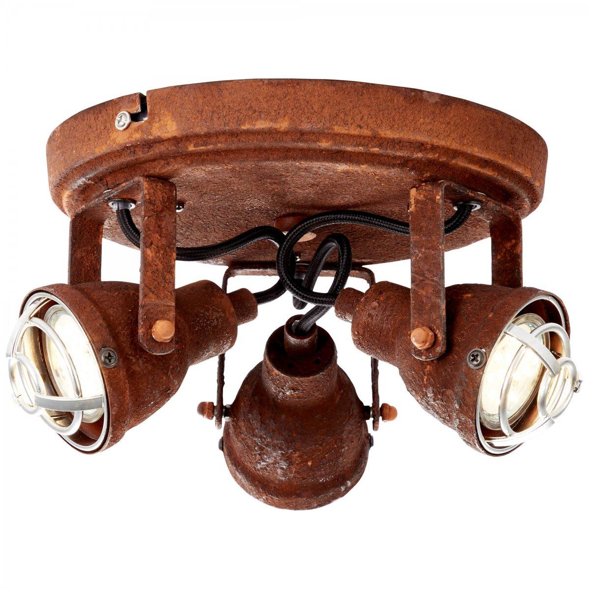 brilliant leuchten no 26334 60 deckenleuchte bente rost schwarz 3 flammig eur 65 98. Black Bedroom Furniture Sets. Home Design Ideas