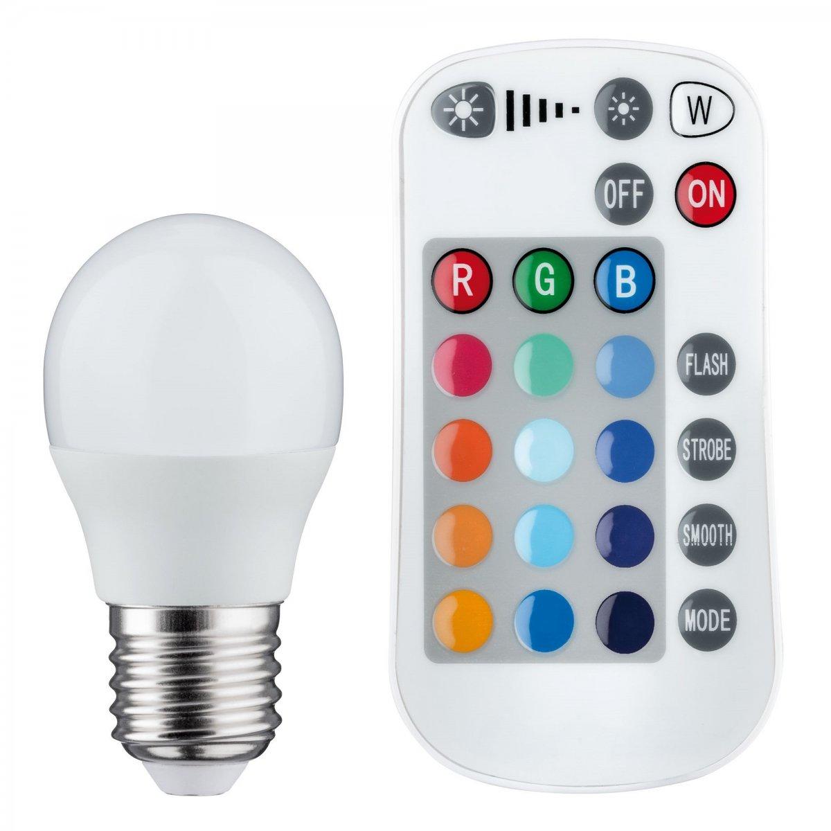 RGB LED E14 Leuchtmittel dimmbar 4 W Farbwechsel 300 Lumen Lampe FERNBEDIENUNG