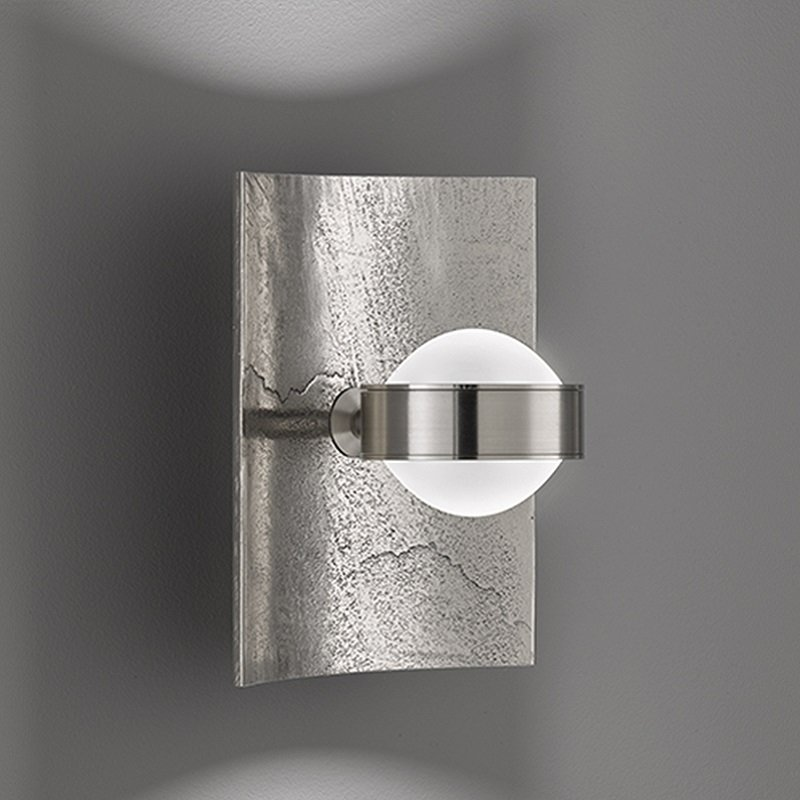 Shine No 30094 Wandleuchte Bondy 1 Flammig Led Nickel Antik Dimmbar