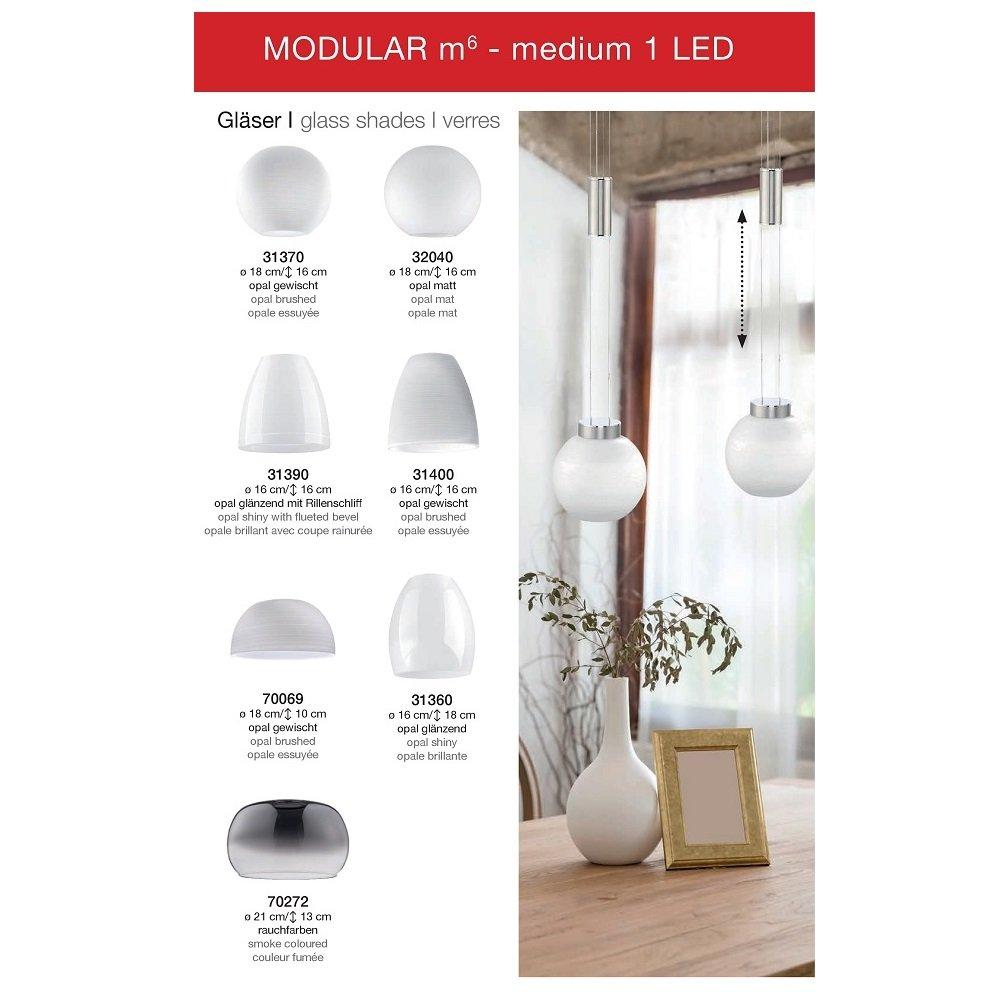 fischer m6 medium1 led no 31390 glas opal gl nzend. Black Bedroom Furniture Sets. Home Design Ideas