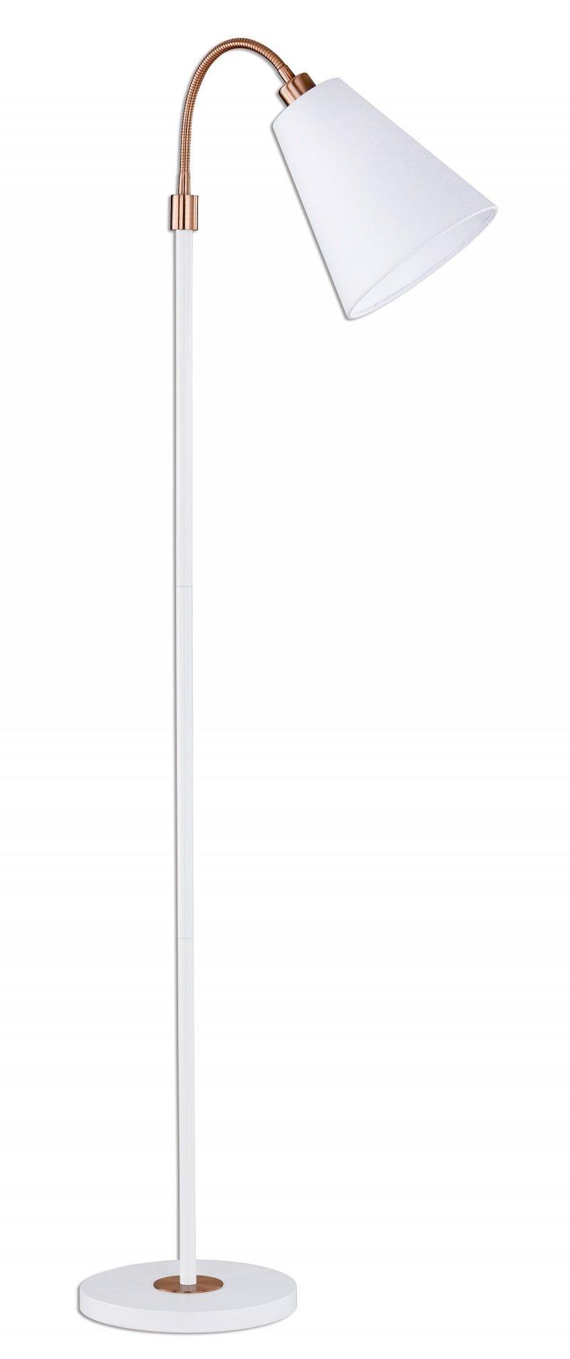 Unglaublich Stehleuchte Weiß Referenz Von 45431-h Hopper Weiß, Bronzefarbig 170 Cm