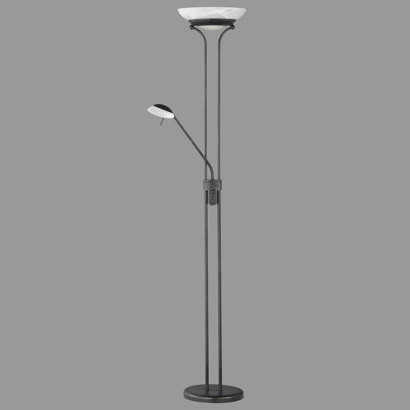 Honsel Leuchten No. 45801-H Stehleuchte LED Pool rostfarbig antik 182 cm  mit Lesearm
