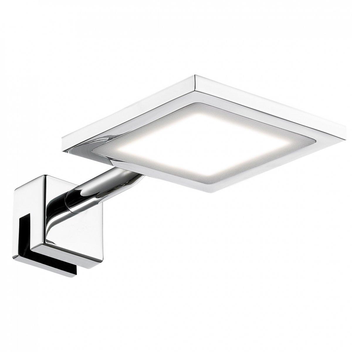 WOFI Leuchten LED Spiegelleuchte SPA LINE PAX Chrom, 1-flammig IP44 ...