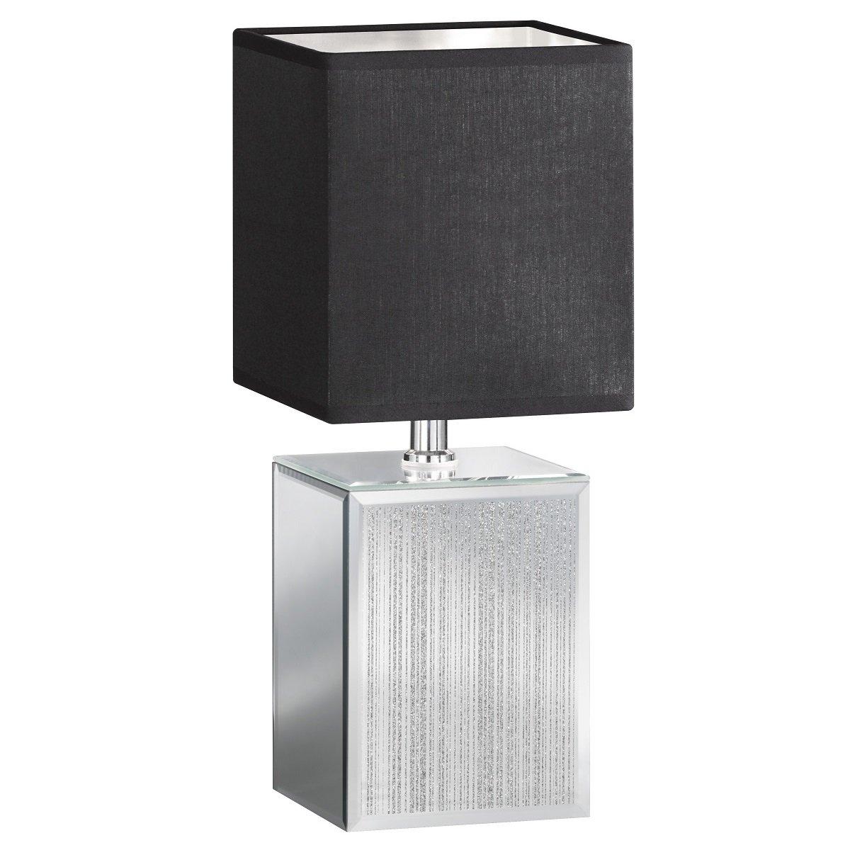 Tischleuchte Honsel Bert 50096 Tischlampe Silber Anthrazit Schnurschalter