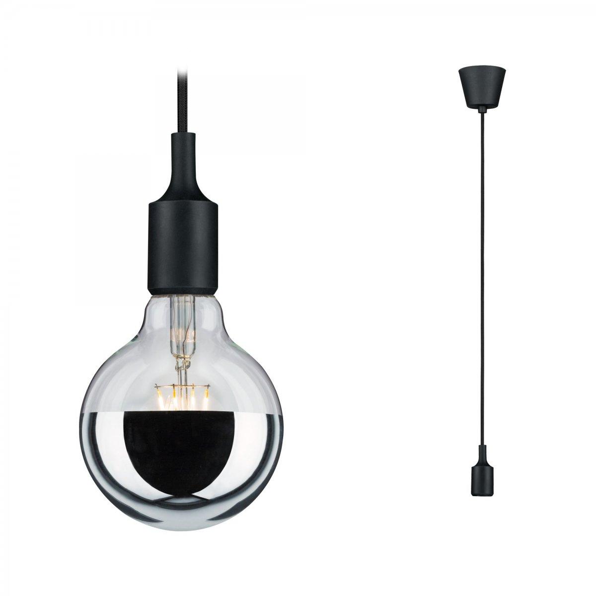 paulmann no 50342 pendel mit e27 fassung schwarz 1 flammig eur 6 79 leuchten lampen led. Black Bedroom Furniture Sets. Home Design Ideas