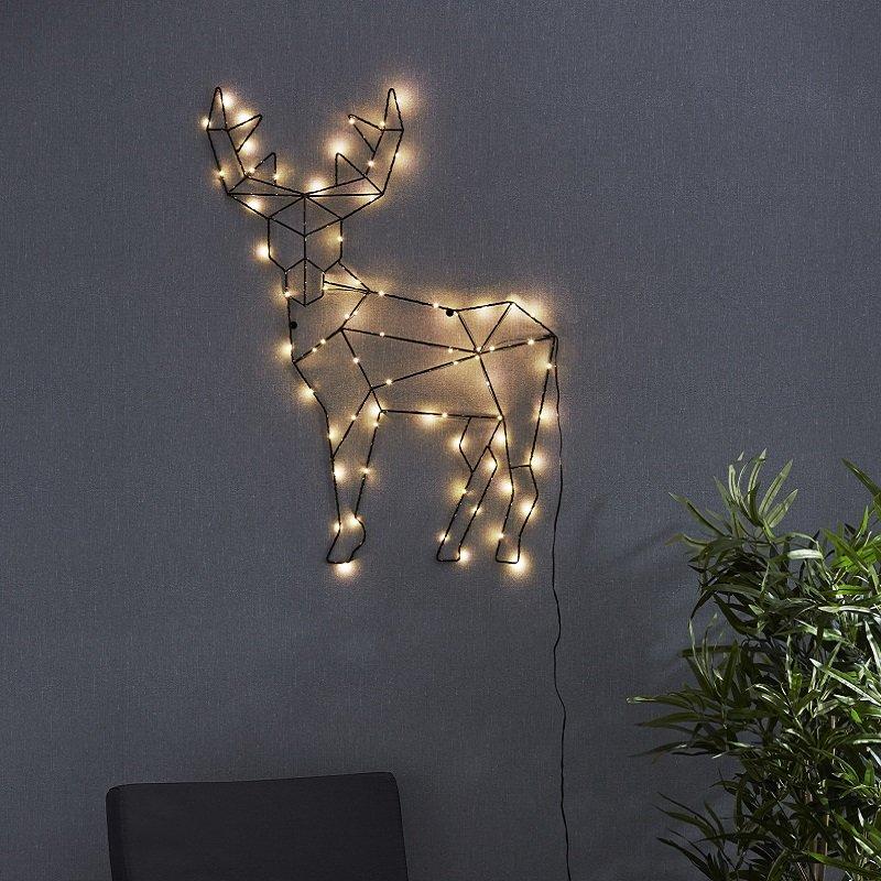 Weihnachtsbeleuchtung Rentier Beweglich.Led Design Rentier Cupid 50 Cm X 70 Cm Nr 582 53