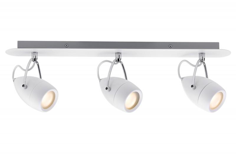 paulmann no 60341 strahler led 3x3 5w drop ip44 balken 230v wei chrom eur 51 40. Black Bedroom Furniture Sets. Home Design Ideas