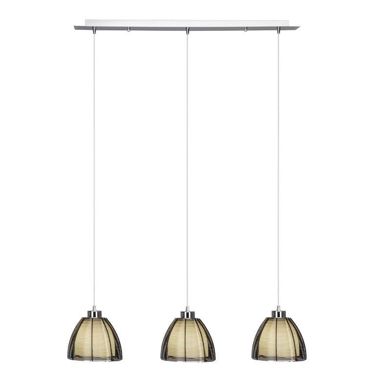 brilliant living leuchten no 61176 76 pendelleuchte relax chrom schwarz 3 flammig 80 cm eur. Black Bedroom Furniture Sets. Home Design Ideas