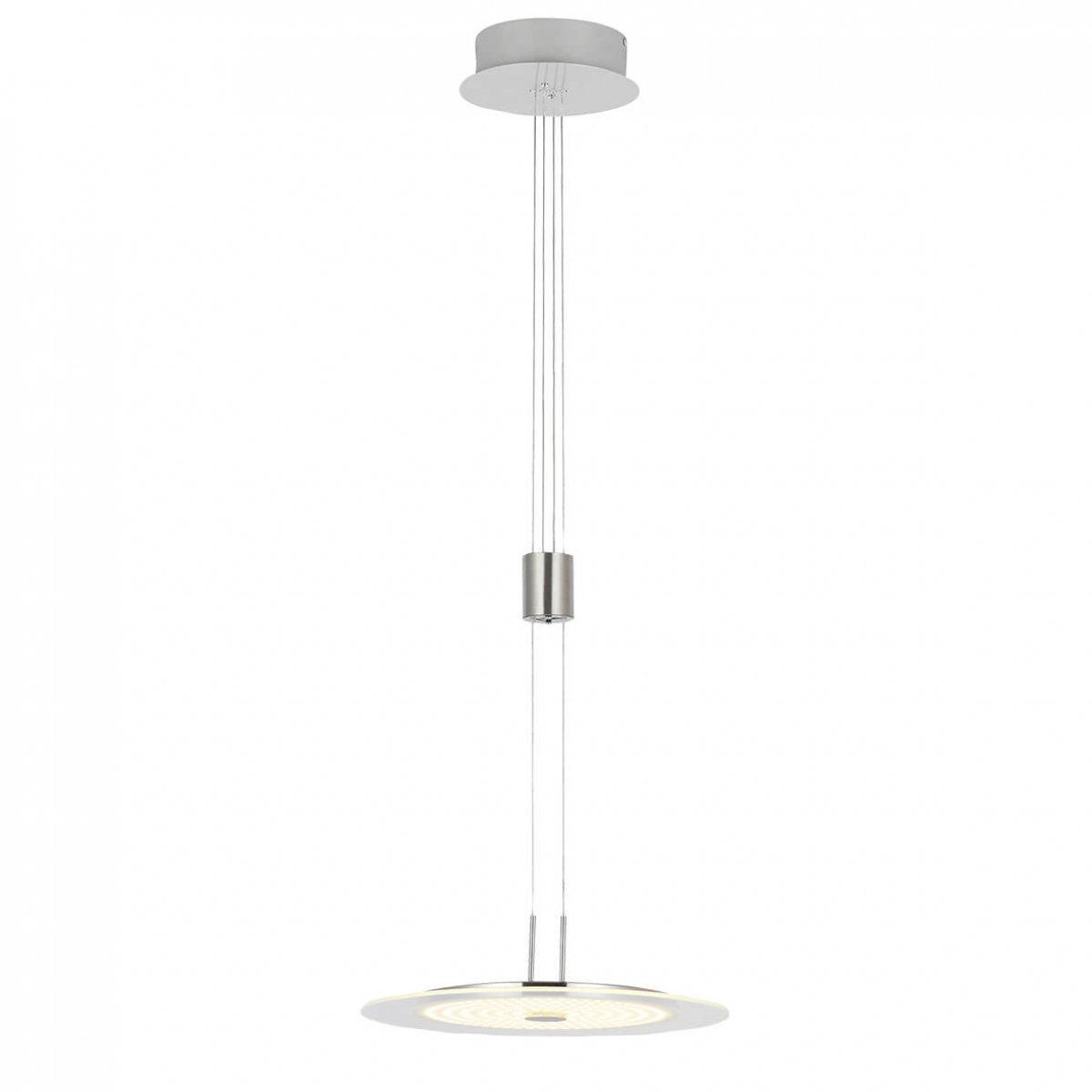 wofi leuchten led pendelleuchte roma nickel matt chrom 1. Black Bedroom Furniture Sets. Home Design Ideas