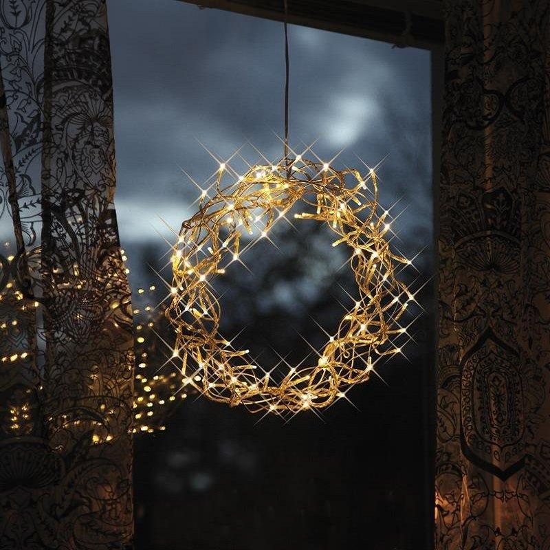 Led kranz curly 30 cm beleuchtet 80 led nr 690 12 eur - Weihnachts fensterdeko led ...
