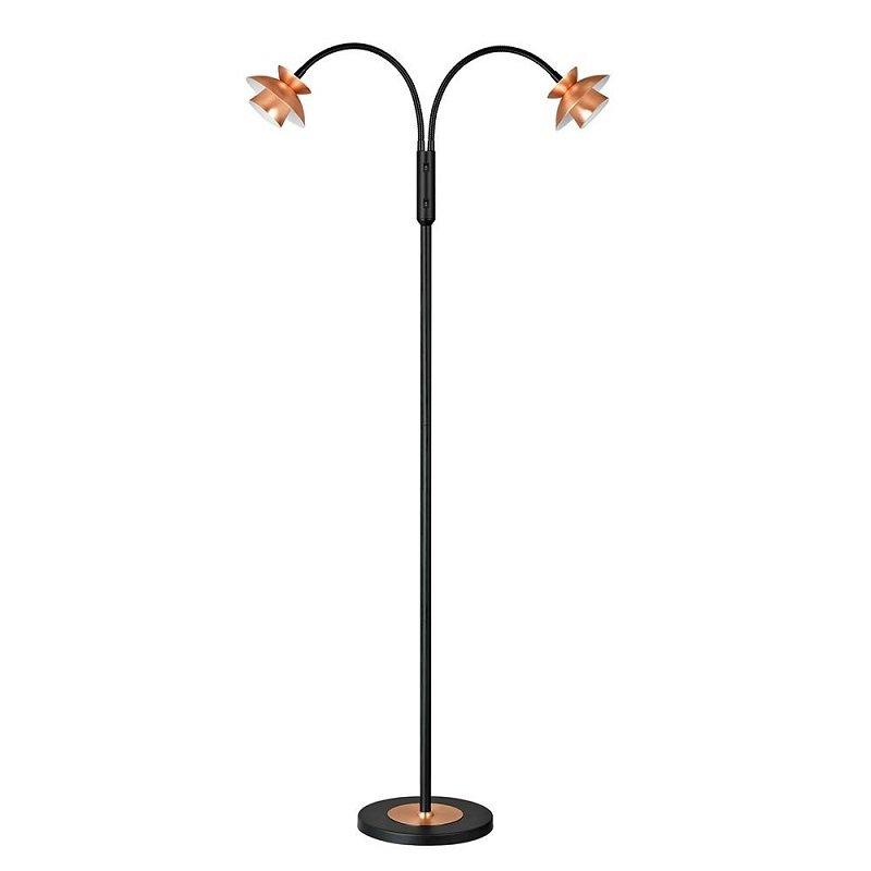 Halo Design No. 715725 LED Stehleuchte DALLAS schwarz kupfer, 130 cm ...