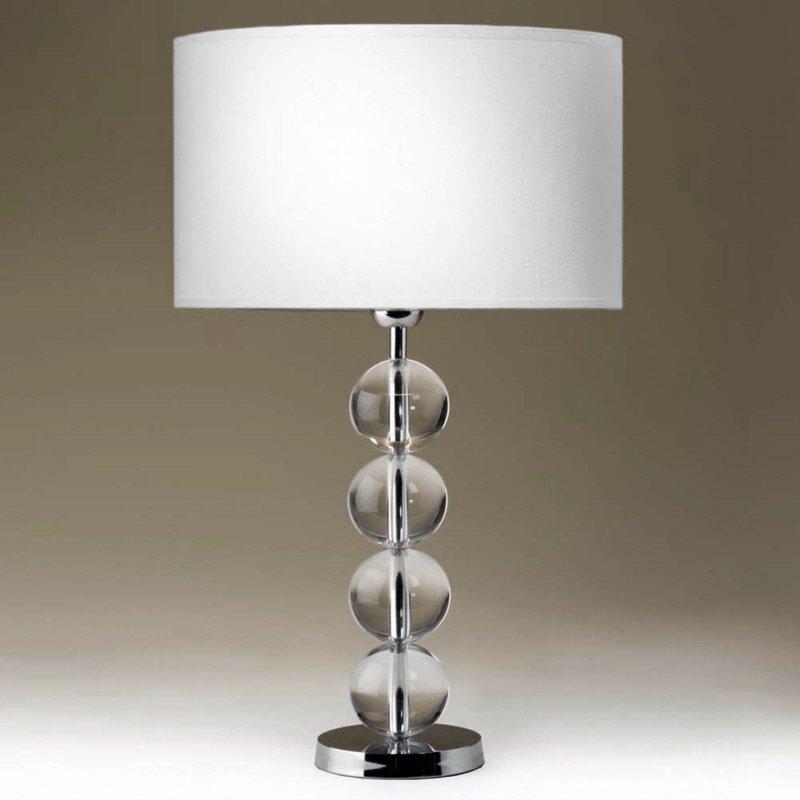tischleuchte edition glas kristall no 75060 lk solid balls two 42 cm hoch eur 139 00. Black Bedroom Furniture Sets. Home Design Ideas