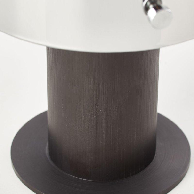 BRILLIANT BETH Tischleuchte 26 cm Glas rauchglas Metall Kaffee