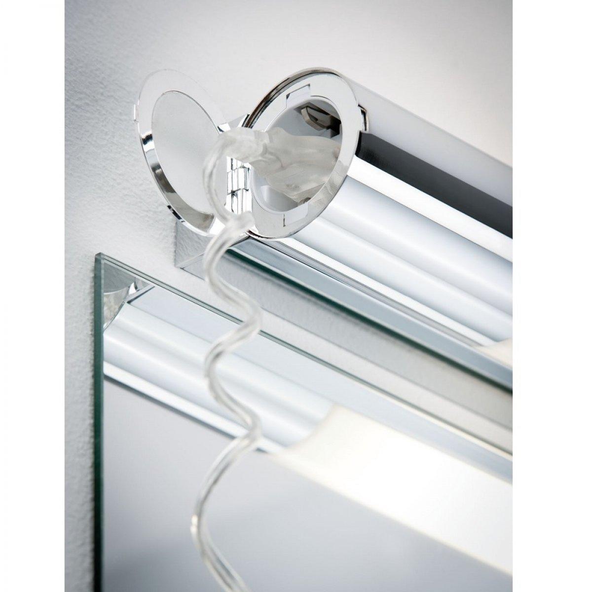 Paulmann No. 79713 Spiegelleuchte LED Orgon IP44 Steckdose 10,5W Chrom 70 cm