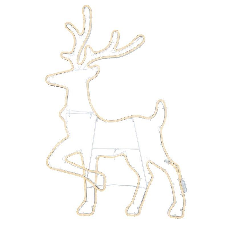 Weihnachtsbeleuchtung Rentier Beweglich.Led Silhouette Neoled Rentier Stehend Nr 807 09