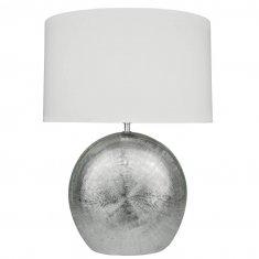 wofi leuchten e27 tischleuchte legend silber 1 flammig 53 cm eur 43 40 leuchten lampen. Black Bedroom Furniture Sets. Home Design Ideas