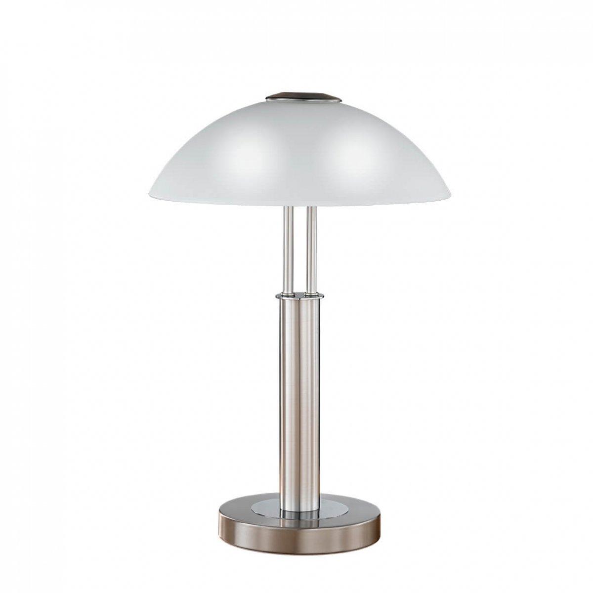 Touchdimmer Wofi-Leuchten Tischleuchte Chrom Höhe 42 cm