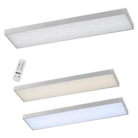 WOFI Leuchten LED Deckenleuchte Glam Silber, 1-flammig 30x120 cm ...