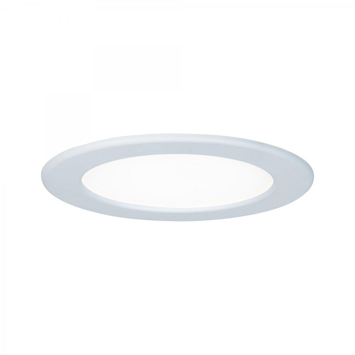 12 W Kunststoff Paulmann Leuchten Paulmann 92077 Einbaupanel eckig Deckenleuchte 12W Licht 4000K Neutralwei/ß LED Panel Chrom matt IP44 spritzwassergesch/ützt inklusive Leuchtmittel Einbauleuchte