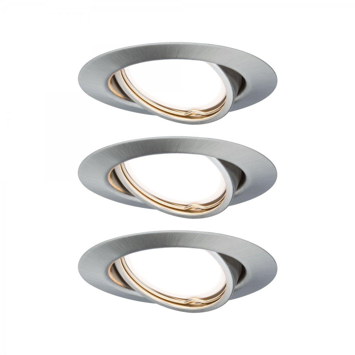 Beliebt Paulmann No. 93420 LED Einbauleuchten Set Base schwenkbar, 3 x 5W DJ42