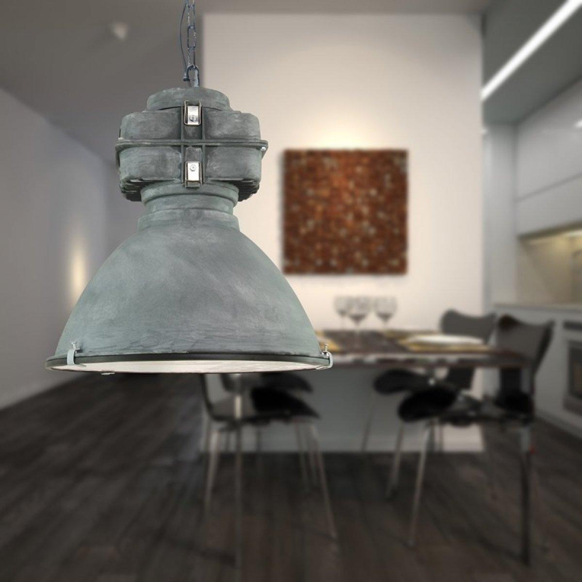 brilliant leuchten no 93444 70 pendelleuchte anouk 1 flammig grau antik eur 143 98. Black Bedroom Furniture Sets. Home Design Ideas