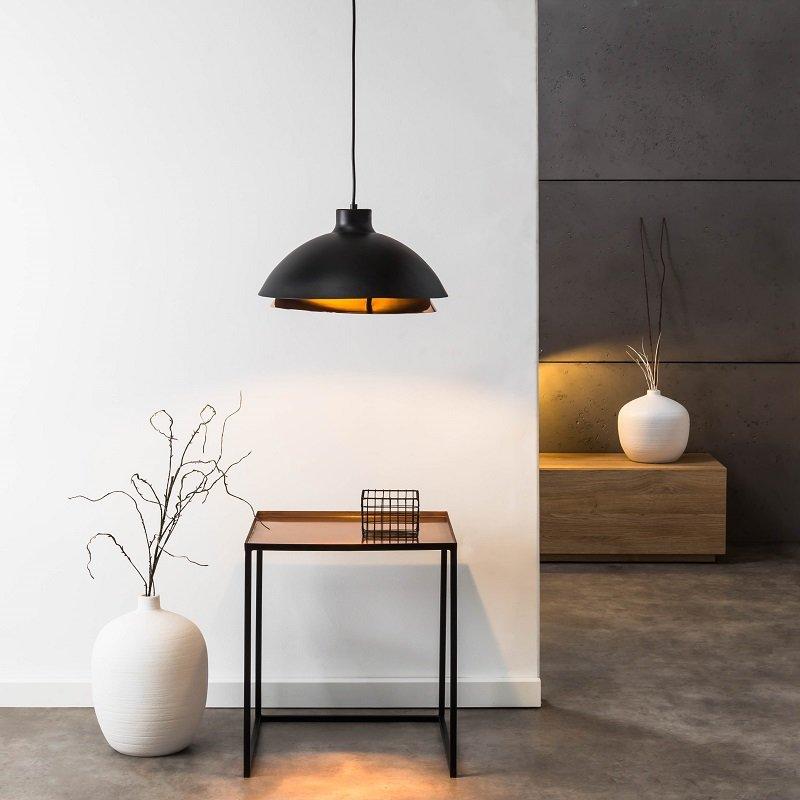 brilliant leuchten no 93677 76 pendelleuchte billy 1 flammig kupfer schwarz 35 cm eur 59 38. Black Bedroom Furniture Sets. Home Design Ideas