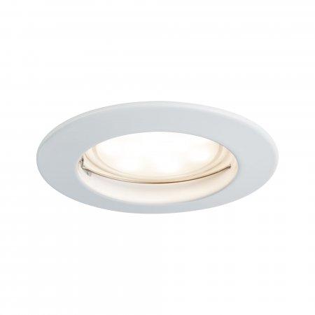 Paulmann No. 93973 LED Einbauleuchte Coin rund 6,8W, Weiß matt, 1er Set IP44
