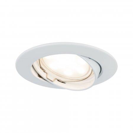 Paulmann No. 93977 LED Einbauleuchte Coin rund 6,8W, Weiß matt, 1er Set IP23
