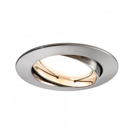 Paulmann No. 93979 LED Einbauleuchte Coin rund 6,8W, Eisen gebürstet, 1er Set IP23