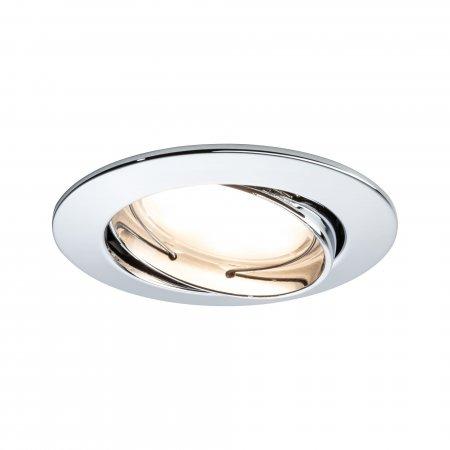 Paulmann No. 93981 LED Einbauleuchte Coin rund 6,8W, Chrom, 1er Set IP23