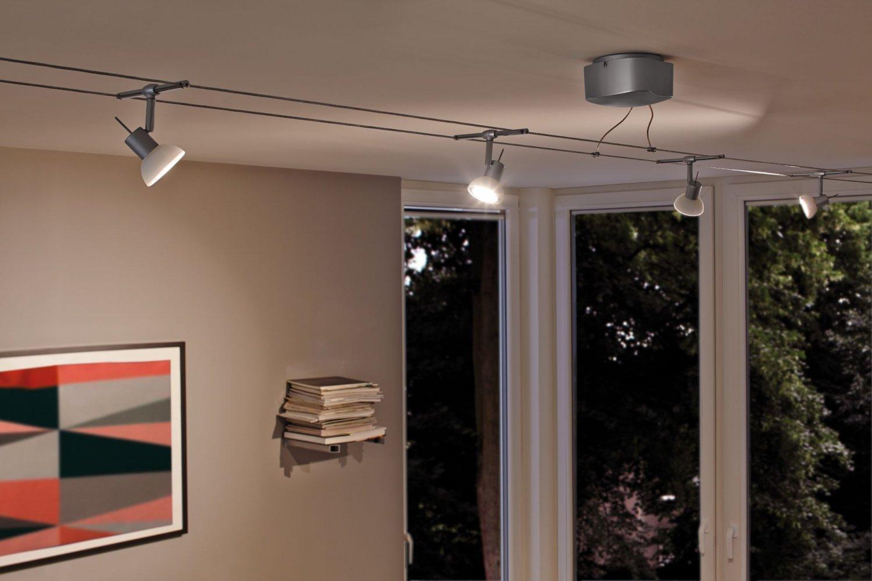 paulmann no 94123 seilsystem set led 6x4w sheela 230 12v chrom matt opal eur 129 99. Black Bedroom Furniture Sets. Home Design Ideas