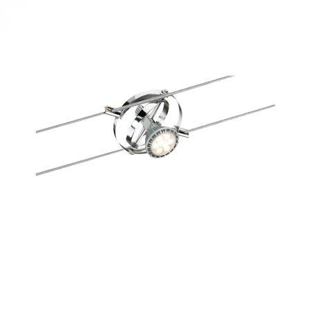 Paulmann No. 94137 Seilspot Cardan Chrom matt ohne Leuchtmittel, max. 10W GU5,3