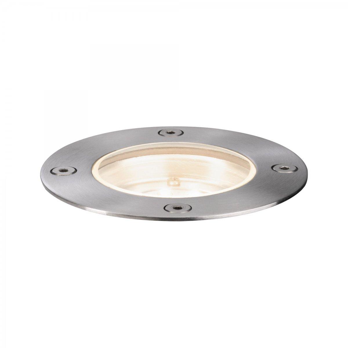Paulmann No 94228 Plugshine Bodeneinbauleuchte Rund Ip65 3000k 4w Silber