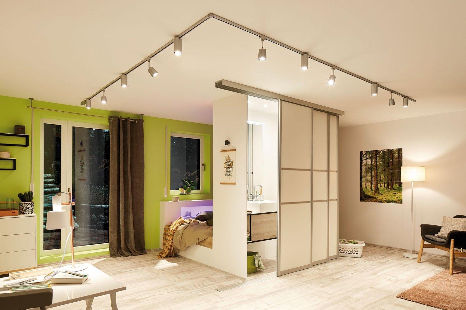 paulmann no 95285 urail led spot 1x6 5w tube 230v gu10 chrom matt chrom eur 34 99. Black Bedroom Furniture Sets. Home Design Ideas