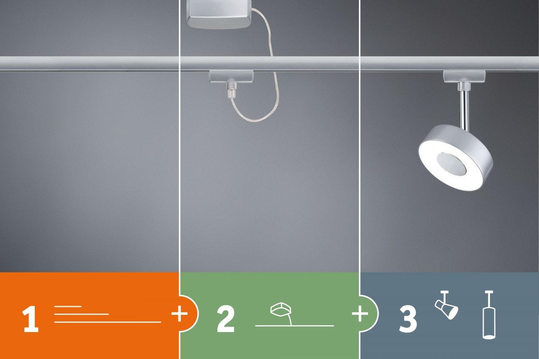 paulmann design urail no 95319 urail led panel loop chrom matt 7w eur 56 53 leuchten. Black Bedroom Furniture Sets. Home Design Ideas