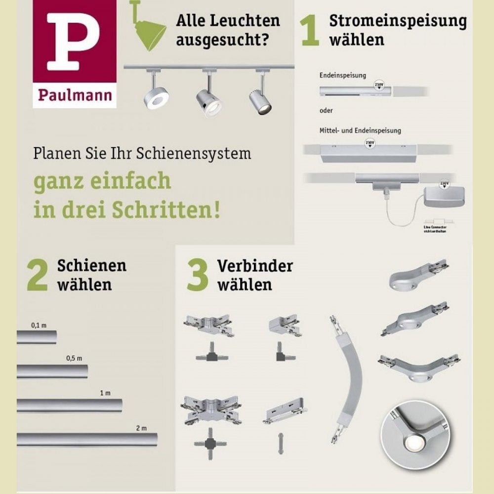 Schienensystem Beleuchtung | Paulmann No 97599 Urail Schienensystem Zubehor Abhangung Schiene