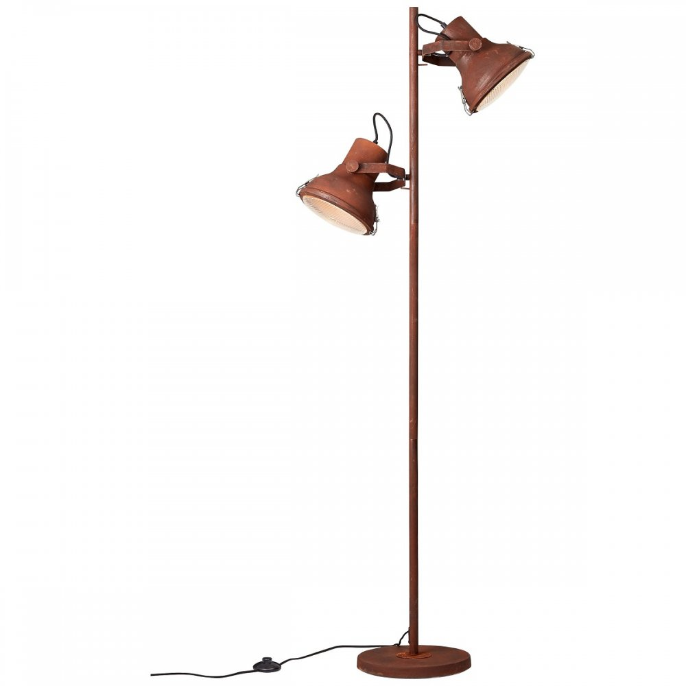 brilliant leuchten no 98943 60 stehleuchte frodo rost schwarz 160 cm eur 156 78 leuchten. Black Bedroom Furniture Sets. Home Design Ideas