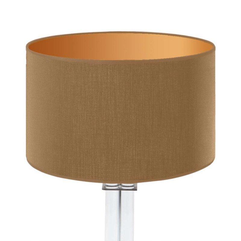 lampenschirm edition glas kristall d2 rund caramel gold trommelf rmig baumwolle eur 39 90. Black Bedroom Furniture Sets. Home Design Ideas