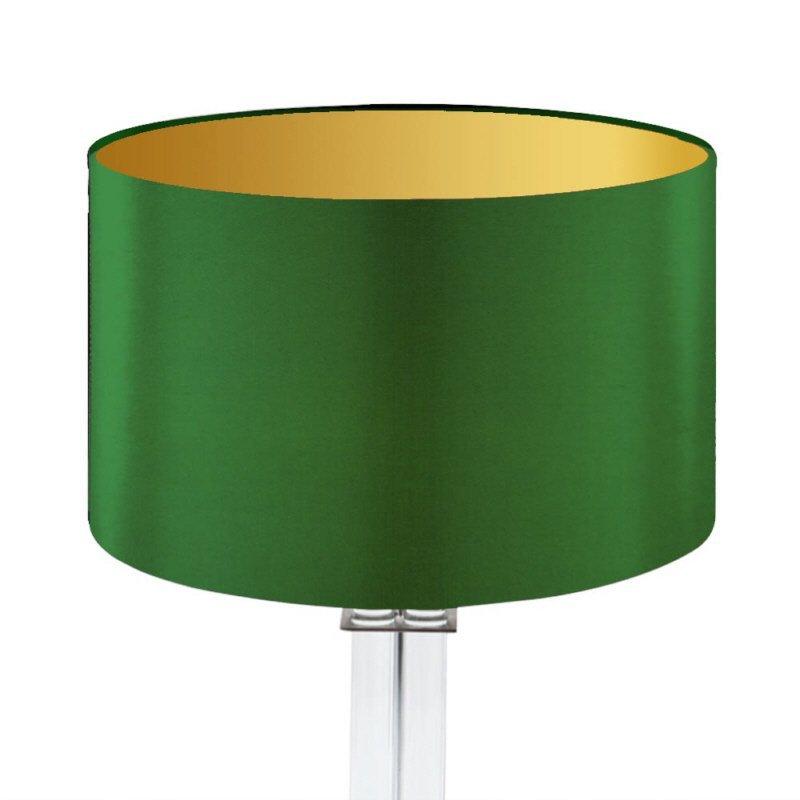 Lampenschirm Edition Glas Kristall D2 Rund Grün Gold Trommelförmig