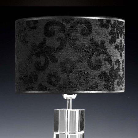 Lampenschirm EDITION Glas Kristall D2 Rund Schwarz Gemustert Trommelförmig  Baumwolle