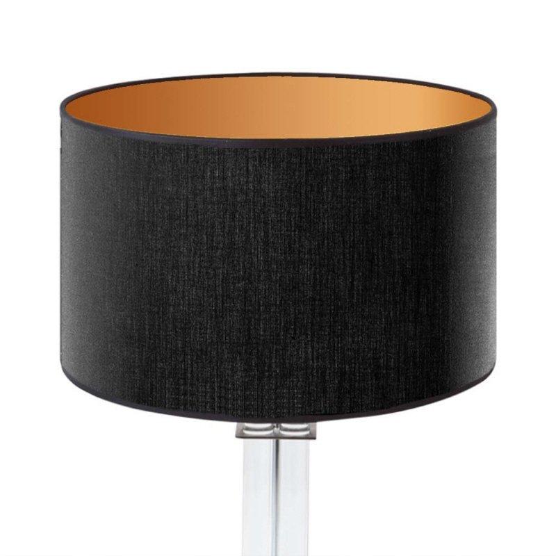 lampenschirm edition glas kristall d3 rund schwarz gold trommelf rmig baumwolle eur 44 90. Black Bedroom Furniture Sets. Home Design Ideas